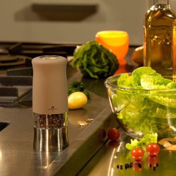 """""""Zephir"""" elektromos só- és borsőrlő szett - bazalt színben - 14cm, Peugeot®"""