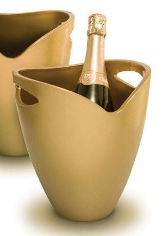Akril pezsgősvödör, metál arany színben, Pulltex®