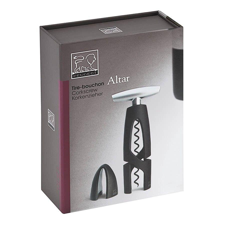 """""""Altar"""" dugóhúzó fólia vágóval, fekete színben - Peugeot®"""
