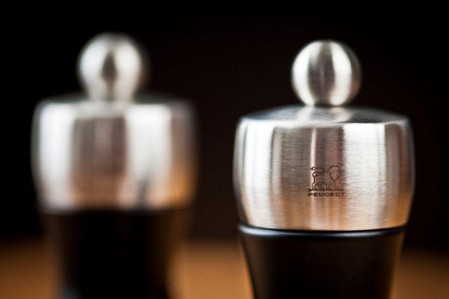 """""""Fidji"""" só- és borsőrlő SZETT - fekete matt - 12cm, Peugeot®"""
